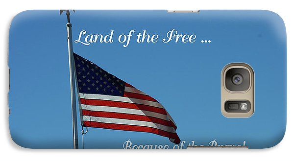 Galaxy Case featuring the photograph Free Because Of Brave by Robyn Stacey