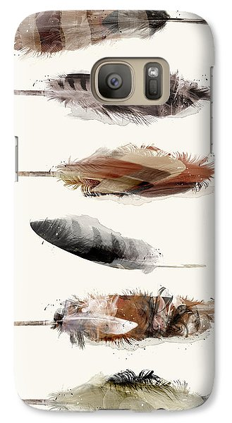 Galaxy Case featuring the painting Free Fall Feathers by Bri B