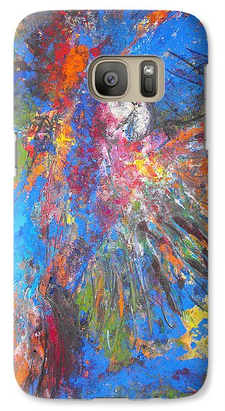 Galaxy Case featuring the painting Free Flight by Koro Arandia