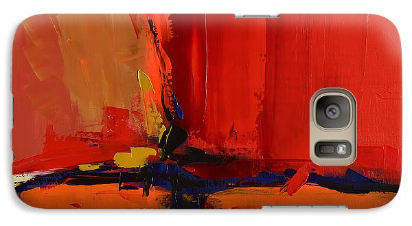 Galaxy Case featuring the painting Free Mind - Art By Elise Palmigiani by Elise Palmigiani