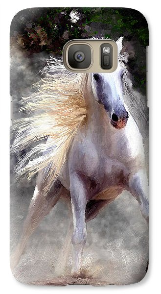 Galaxy Case featuring the painting Free Spirit #2 by James Shepherd