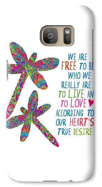 Galaxy Case featuring the painting Free To Be by Lisa Weedn