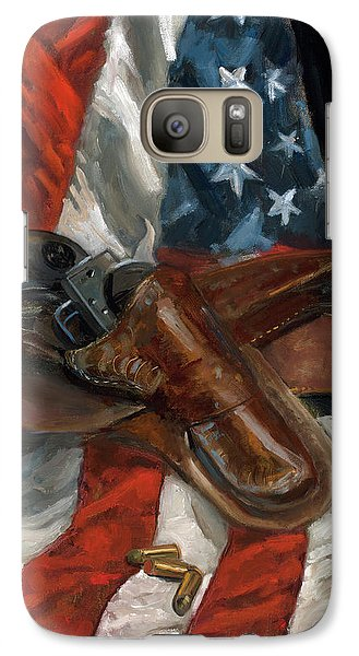 Galaxy Case featuring the painting Freedom by Billie Colson