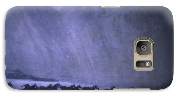 Galaxy Case featuring the painting Freedom by Jarmo Korhonen aka Jarko