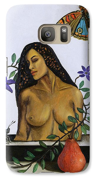 Galaxy Case featuring the painting Freedom by Leah Saulnier The Painting Maniac