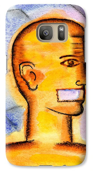 Galaxy Case featuring the painting Freedom Of Press  by Leon Zernitsky