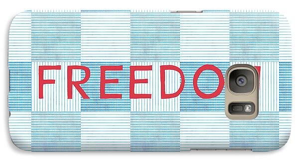 Folk Art Galaxy S7 Case - Freedom Patchwork by Linda Woods