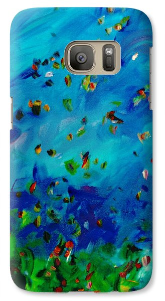 Galaxy Case featuring the painting Freelancing  by Reina Resto