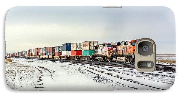 Train Galaxy S7 Case - Freight Train by Todd Klassy