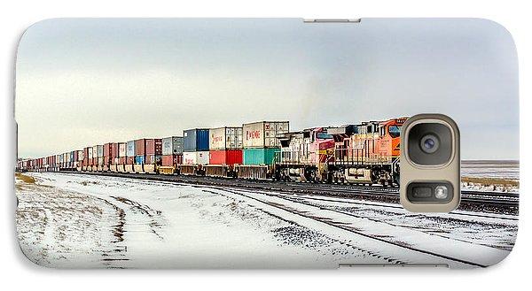 Train Galaxy S7 Case - Freight Train by Todd Klassy