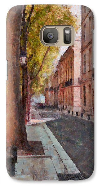 Galaxy Case featuring the photograph French Boulevard by Scott Carruthers
