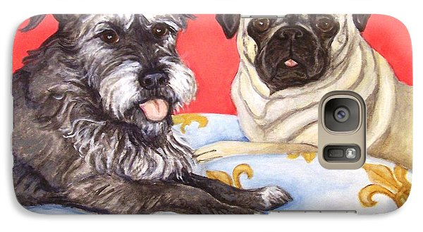 Galaxy Case featuring the painting French Friends by Laura Aceto