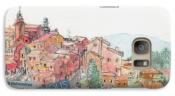 Galaxy Case featuring the painting French Hill Top Village by Tilly Strauss