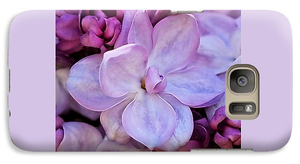 Galaxy Case featuring the photograph French Lilac Flower by Rona Black