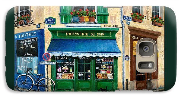French Pastry Shop Galaxy Case by Marilyn Dunlap