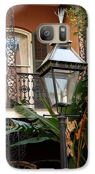 Galaxy Case featuring the photograph French Quarter Courtyard by KG Thienemann