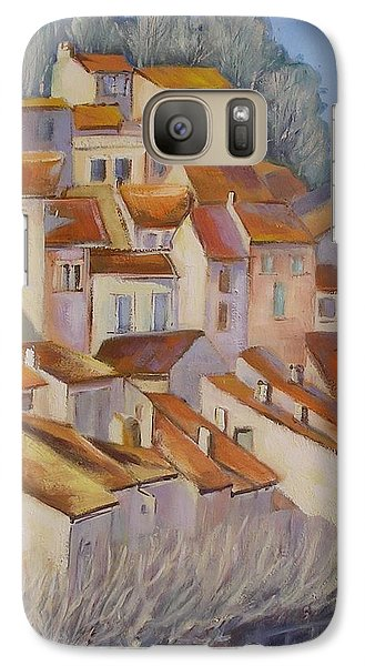 Galaxy Case featuring the painting French Villlage Painting by Chris Hobel