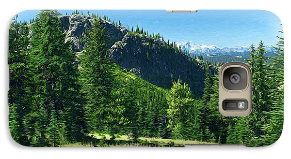 Galaxy Case featuring the photograph Fresh Air In The Mountains Photo Art by Sharon Talson
