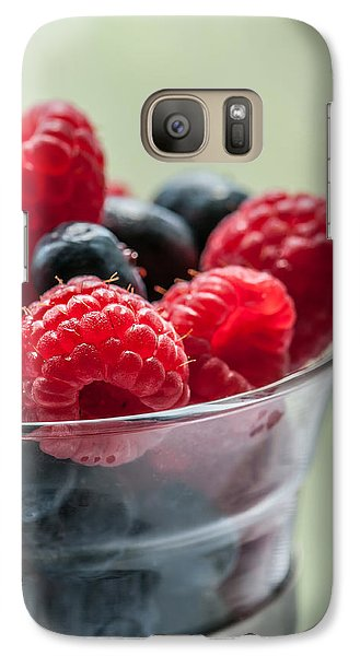 Raspberry Galaxy S7 Case - Fresh And Yummy by Maggie Terlecki