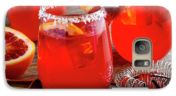 Galaxy Case featuring the photograph Fresh Blood Orange Margaritas by Teri Virbickis