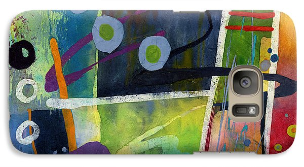 Galaxy Case featuring the painting Fresh Jazz In A Square by Hailey E Herrera
