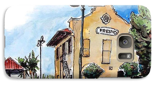 Galaxy Case featuring the painting Old Fresno Depot by Terry Banderas