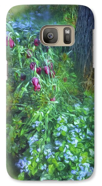 Galaxy Case featuring the photograph Fritillaria And Forget-me-nots  by Connie Handscomb