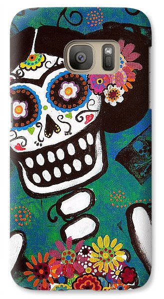 Galaxy Case featuring the painting Frida Dia De Los Muertos by Pristine Cartera Turkus