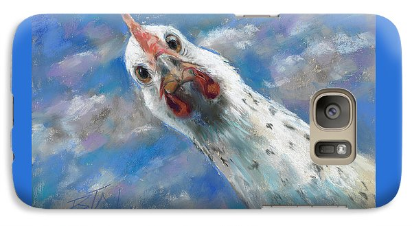 Galaxy Case featuring the painting Fried What by Billie Colson