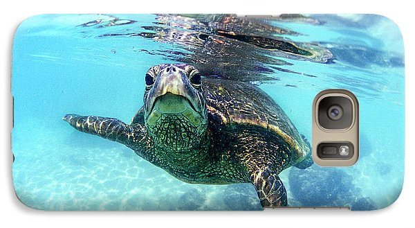 friendly Hawaiian sea turtle  Galaxy S7 Case by Sean Davey