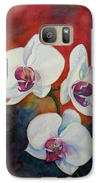Galaxy Case featuring the painting Friends by Anna Ruzsan