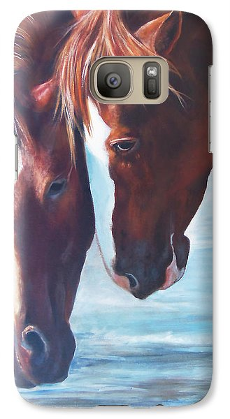 Galaxy Case featuring the painting Friends For Life by Karen Kennedy Chatham