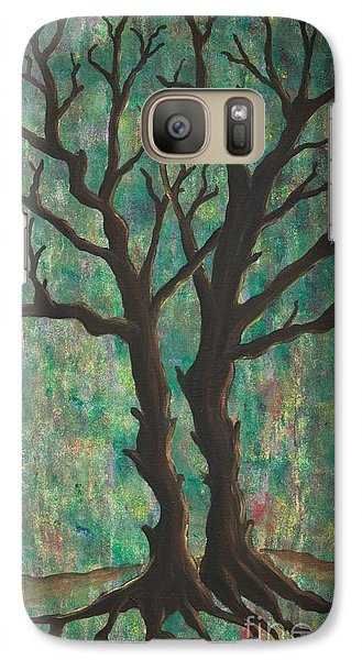 Galaxy Case featuring the painting Friends by Jacqueline Athmann