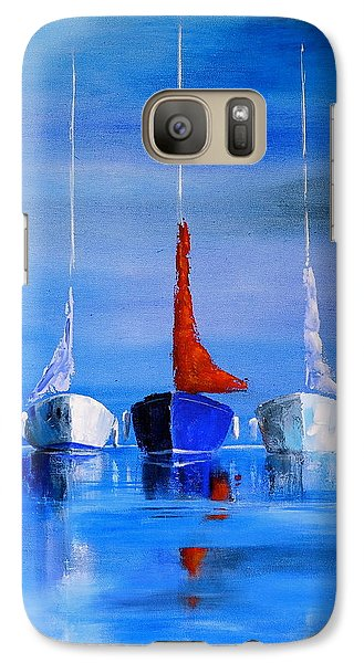 Galaxy Case featuring the painting Friends by Jo Appleby