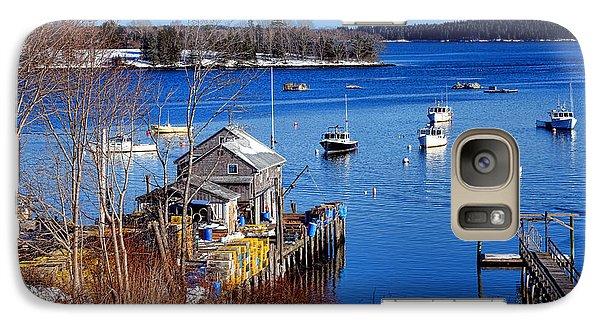 Galaxy Case featuring the photograph Friendship Harbor In Winter by Olivier Le Queinec