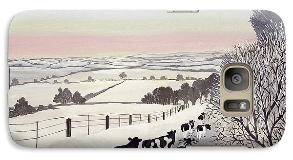 Landscapes Galaxy S7 Case - Friesians In Winter by Maggie Rowe