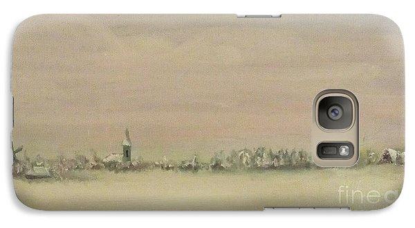 Galaxy Case featuring the painting Friesland Under Snow by Annemeet Hasidi- van der Leij