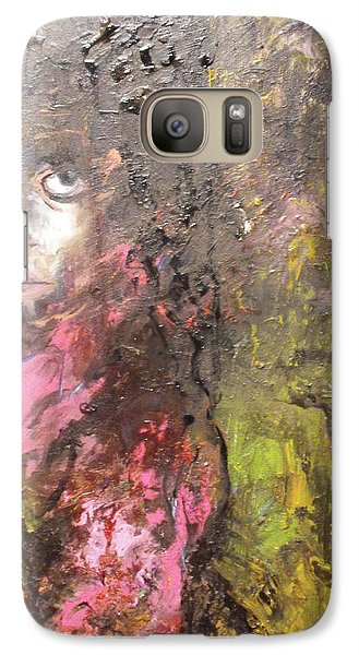 Galaxy Case featuring the painting Frightened by Koro Arandia