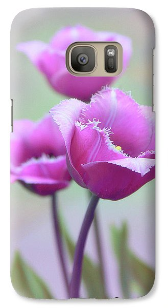 Galaxy Case featuring the photograph Fringe Tulips by Jessica Jenney