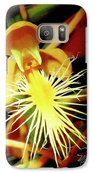 Galaxy Case featuring the photograph Fringed Yellow Orchid by Meta Gatschenberger