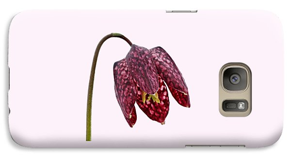 Galaxy Case featuring the photograph Fritillaria Meleagris Transparent Background by Paul Gulliver