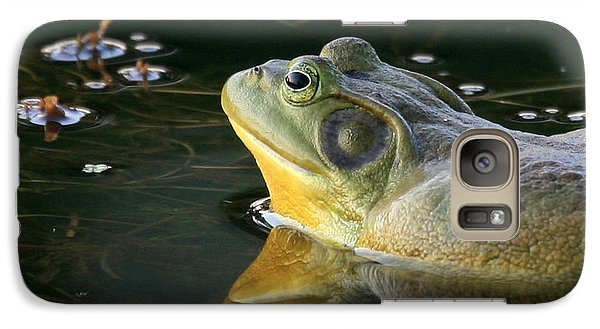 Galaxy Case featuring the photograph Frog At Sunset by Paula Guttilla