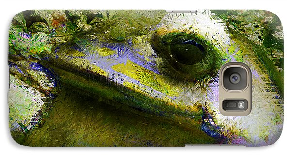 Galaxy Case featuring the photograph Frog In The Pond by Lori Seaman