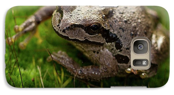 Galaxy Case featuring the photograph Frog On The Grass by Jean Noren