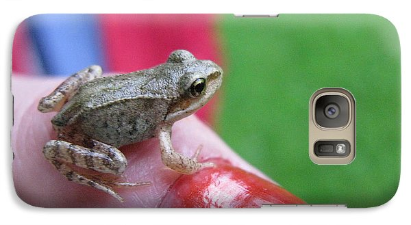 Galaxy Case featuring the photograph Frog The Prince by Ausra Huntington nee Paulauskaite