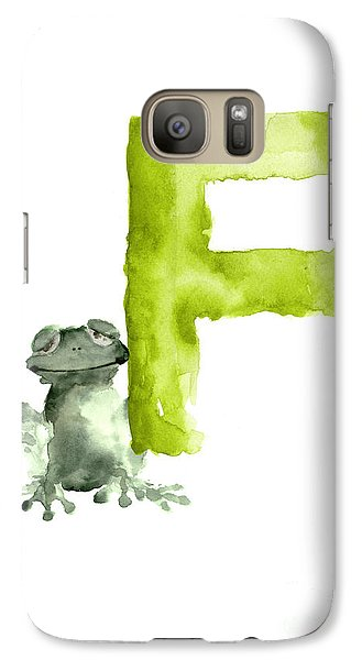 Frog Watercolor Alphabet Painting Galaxy S7 Case