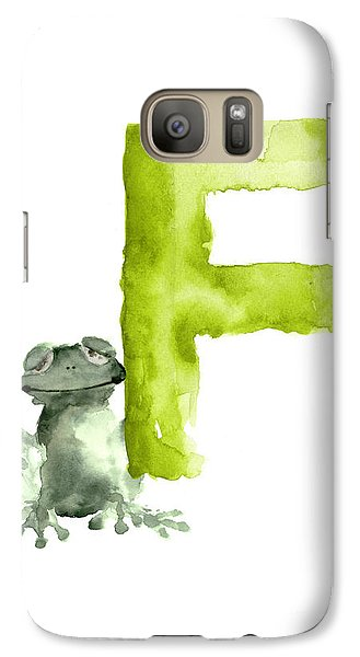 Frog Watercolor Alphabet Painting Galaxy Case by Joanna Szmerdt