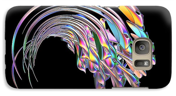 Galaxy Case featuring the digital art Frolicking Fishes  by Greg Moores