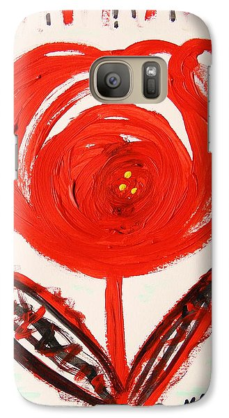Galaxy Case featuring the painting From A Variety Garden  by Mary Carol Williams