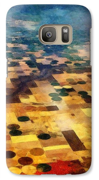 Galaxy Case featuring the digital art From Above by Michelle Calkins